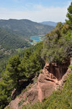 Siurana cliffs in the Prades mountains Royalty Free Stock Image