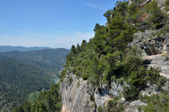 Siurana cliffs in the Prades mountains Stock Images