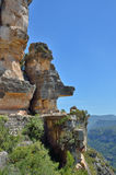 Siurana-Klippen in den Prades-Bergen Lizenzfreie Stockbilder