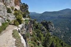 Siurana klippor i de Prades bergen Royaltyfria Bilder