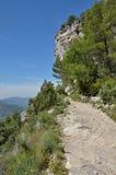 Siurana klippor i de Prades bergen Arkivbild