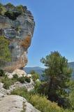 Siurana klippor i de Prades bergen Fotografering för Bildbyråer