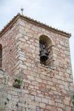 Siurana kyrkliga Klocka torn Royaltyfri Foto