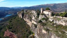 Siurana romanesque oud dorp van Priorat, Tarragona, Catalonië Spanje stock footage