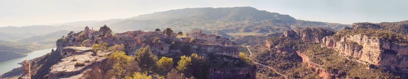 Siurana village in the province of Tarragona Stock Photography