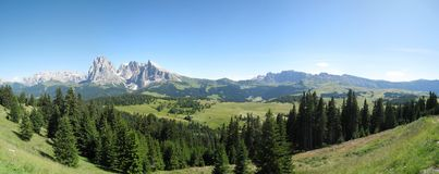 Siusi pasture, Italian Dolomites Stock Photography