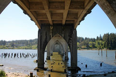 Siuslaw Bridge in Florence, Oregon Royalty Free Stock Photography