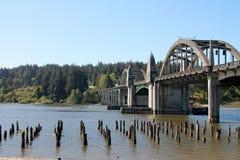 Siuslaw bro i Florence, Oregon Arkivfoto