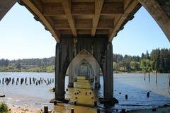 Siuslaw most w Florencja, Oregon fotografia royalty free