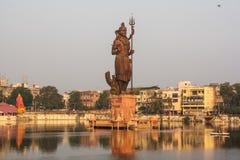 Siva лорда, sursagar, baroda, Индия Стоковое Фото