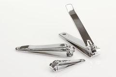 Siver nailclipper Stockfotos