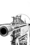 Siver Plated Cornet Stock Photography