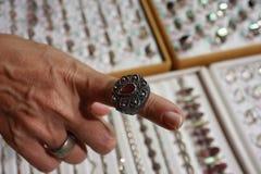 Siver Ring Lizenzfreies Stockfoto