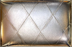 Siver upholstery leather background Royalty Free Stock Photography