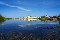 Siverskoye Lake and Kirillo-Belozersky Monastery Royalty Free Stock Photo