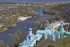 Siversky Donets river in Sviatohirsk, spring Royalty Free Stock Images