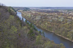 Siversky Donets river in Sviatohirsk, spring Royalty Free Stock Photo