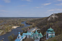 Siversky Donets river in Sviatohirsk, spring Royalty Free Stock Image