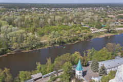 Siversky Donets river in Sviatohirsk, spring Royalty Free Stock Photos