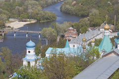 Siversky Donets river in Sviatohirsk, spring Stock Photography