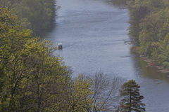 Siversky Donets river in Sviatohirsk, spring Stock Images