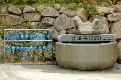 Siviere beventi libere dell'acqua santa in Soraksan Mounta Fotografia Stock Libera da Diritti