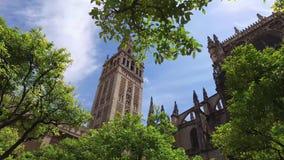 Siviglia, Andalusia, Spagna - 18 aprile 2016: Cattedrale dei giardini di Siviglia video d archivio