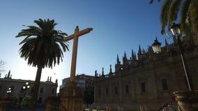 Siviglia, Andalusia, Spagna - 14 aprile 2016: Cattedrale di Siviglia video d archivio