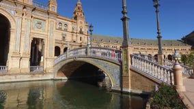 Siviglia, Andalusia, Spagna - 14 aprile 2016: Quadrato della Spagna stock footage