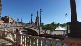 Siviglia, Andalusia, Spagna - 14 aprile 2016: Quadrato della Spagna archivi video