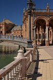 Siviglia, Andalusia, Spagna Plaza de Espana, quadrato spagnolo fotografia stock