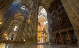 Siviglia - dell'interno della cattedrale de Santa Maria de la Sede Immagine Stock Libera da Diritti