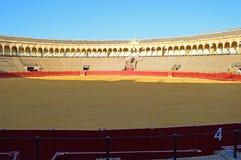 Siviglia - interno - arena - la La Real Maestranza de CaballerÃa de Sevilla di de toros de della plaza fotografie stock
