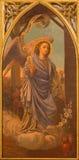 Siviglia - la pittura dell'arcangelo Gabriel dall'altare laterale gotico neo in chiesa Iglesia de San Pedro Fotografia Stock
