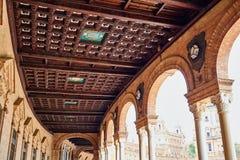 Siviglia Sevilla Plaza de Espana Andalusia Spain fotografia stock