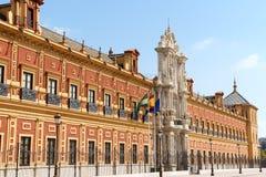 Palazzo di San Telmo in Siviglia, Spagna immagine stock libera da diritti