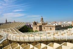 SIVIGLIA, SPAGNA - 14 GIUGNO 2018: Punto di vista del de Sevilla delle sete del parasole di Metropol della città di Siviglia, Spa fotografia stock