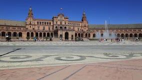 Siviglia, Spagna - Plaza de Espana famosa Vecchio limite stock footage