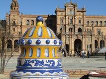Siviglia, Spagna Spagnolo Square Plaza de Espana immagine stock libera da diritti