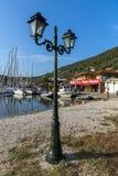 SIVOTA, LEUCADE, GRECIA 17 LUGLIO 2014: Vista panoramica del villaggio di Sivota, Leucade, Grecia Fotografie Stock
