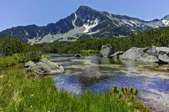 Sivrya peak and Banski lakes, Pirin Mountain Stock Photography