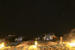 Siwa,野营的埃及,阿拉伯沙漠 图库摄影