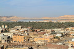 The Siwa Oasis in the Sahara of Egypt Royalty Free Stock Photo