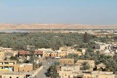 The Siwa Oasis in the Sahara of Egypt Stock Photos