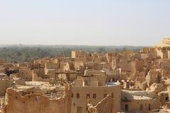 Siwa Roof top. Siwa egypt Roof top landscape Stock Photo