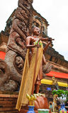 Siwalee monk image. Image of monk Siwalee in standing action.Chaing Mai, Thailand Royalty Free Stock Photos