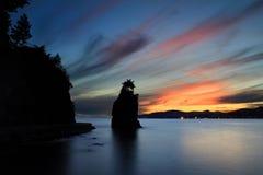 Siwash岩石,温哥华市 免版税库存图片