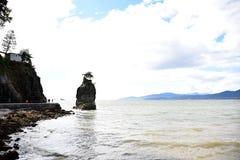 Siwash-Felsen stockbilder