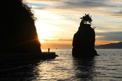Siwash Rock near Vancouver Stock Images