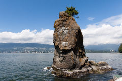 Siwash Rock in Stanley Park Royalty Free Stock Photography